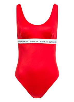 Calvin Klein Badeanzug Ck Logo rot