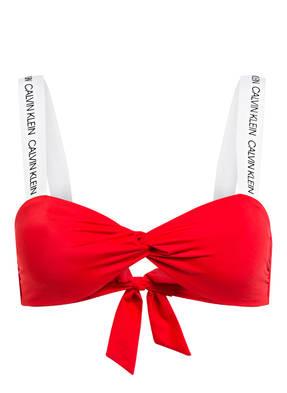 Calvin Klein Bandeau-Bikini-Top Ck Logo rot