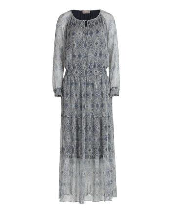 Cartoon Sommerkleid im Boho Style Abendkleider blau Damen Gr. 36