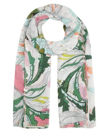 Codello Pareo aus Baumwolle mit Blätter-Print