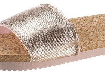 Flip Flop Pantolette mit Metallic-Bandage