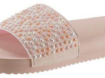 Flip Flop Pantolette mit schöner Steinchenverzierung