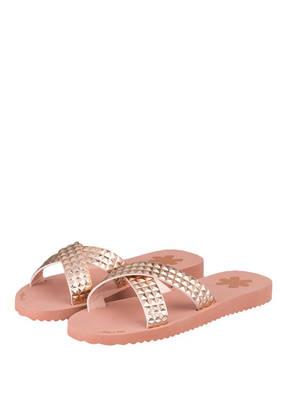 Flip*Flop Pantoletten Cross Tile rosa