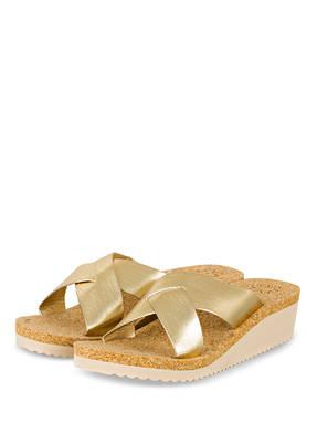 Flip*Flop Plateau-Wedges Corgi gold