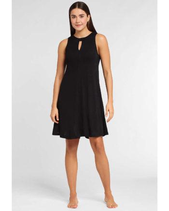 LASCANA Jerseykleid Sommerkleider schwarz Damen Gr. 36