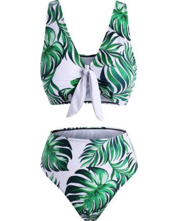 Leaf Pineapple Polka Dot Knot Tropical Bikini Swimwear