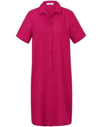 Peter Hahn Kleid aus Leinen Sommerkleider pink Damen Gr. 44
