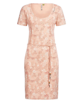 Ragwear Jerseykleid Peliada Organic Sommerkleider rosa Damen Gr. 40