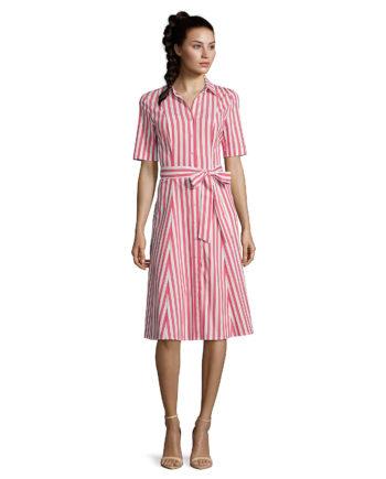 Vera Mont Sommerkleid mit Streifen Etuikleider rot/weiß Damen Gr. 36
