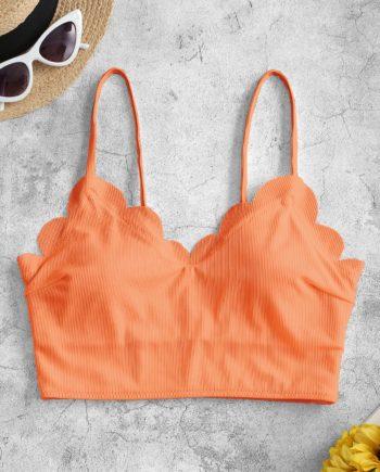 ZAFUL Gepolstertes Bikini-Top mit Wellenschliff