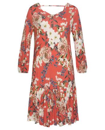 s.Oliver Beachwear Jerseykleid Sommerkleider koralle Damen Gr. 38
