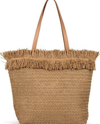 styleBREAKER Strandtasche, Korbflecht Schultertasche - Basttasche