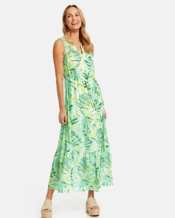Ärmelloses Sommerkleid Mehrfarbig 38/S