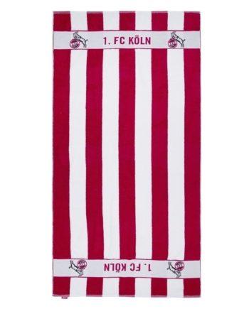 1. FC Köln Badetuch - Blockstreifen - 90 x 180 cm Strandtuch, Handtuch (L)