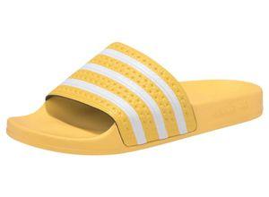 ADIDAS ORIGINALS Badeschuhe'Adilette' gelb / weiß