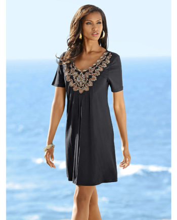 Alba Moda Shirt kurzarm cm Sommerkleider schwarz Damen Gr. 36