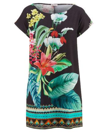 Alba Moda Shirt ohne arm Single Jersey Sommerkleider schwarz Damen Gr. 38