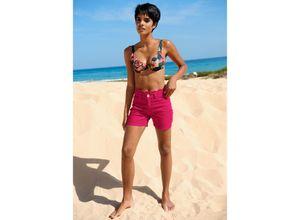 Alba Moda Strandhose mit Bogenkante pink Damen Kurze Hosen kurz