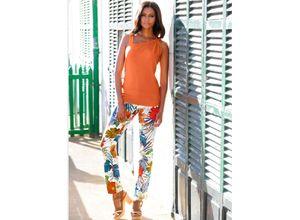 Alba Moda Strandhose mit Druck bunt Damen Gerade Hosen lang