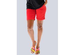 Alba Moda Strandhose mit Umschlag rot Damen Kurze Hosen kurz