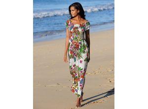 Alba Moda Strandkleid im Carmenstil weiß Damen Freizeitkleider Kleider