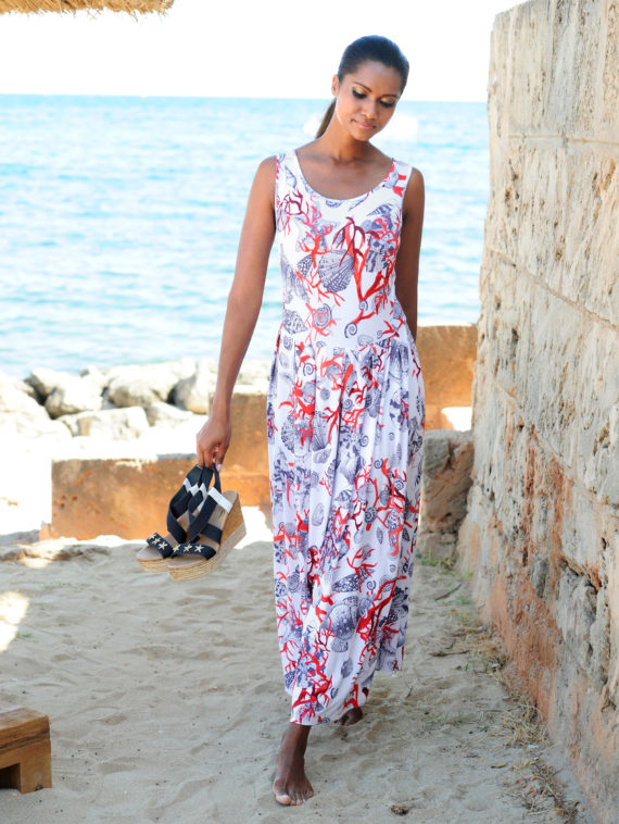 Alba Moda Strandkleid im maritimen Dessin