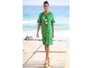 Alba Moda Strandkleid mit Quastenverzierung grün Damen Freizeitkleider Kleider