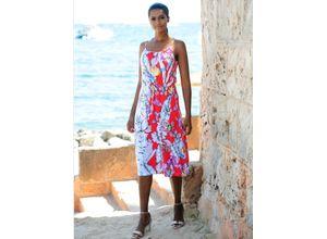 Alba Moda Strandkleid mit Spaghettiträgern bunt Damen Knielange Kleider