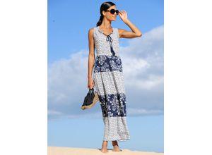 Alba Moda Strandkleid mit Stufenrock blau Damen Freizeitkleider Kleider