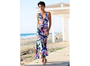 Alba Moda Strandkleid mit raffinierter Schnittführung blau Damen Lange Kleider