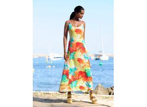 Alba Moda Strandkleid mit sommerlichem Druck bunt Damen Lange Kleider