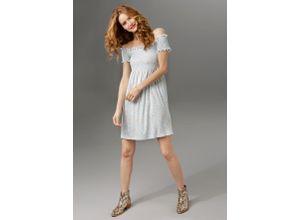 Aniston CASUAL Sommerkleid blau Damen Freizeitkleider Kleider