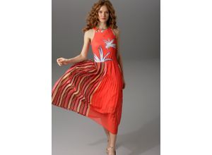 Aniston CASUAL Sommerkleid rot Damen Abiballkleider Kleider
