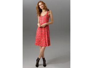 Aniston CASUAL Sommerkleid rot Damen Freizeitkleider Kleider