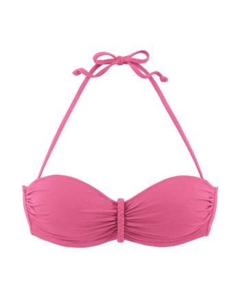 BUFFALO Bügel-Bandeau-Top, Bikini-Oberteile rosa Damen Gr. 36C