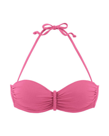 BUFFALO Bügel-Bandeau-Top, Bikini-Oberteile rosa Damen Gr. 40C