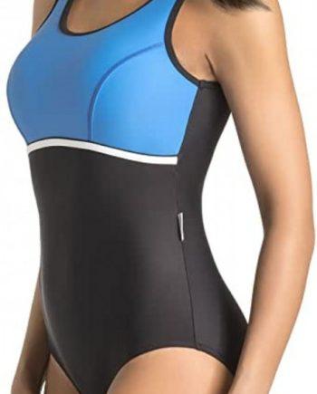 Badeanzug - Schwimmanzug Marietta schwarz/blau
