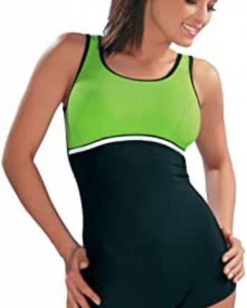 Badeanzug - Schwimmanzug Maryla I schwarz/grün