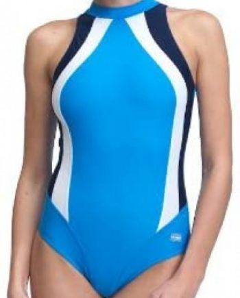 Badeanzug | Schwimmanzug Olivia blau/weiß/navy