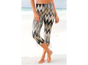 Beachtime Caprileggings schwarz Damen Strandhosen Strandmode Hosen