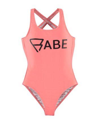 Brunotti Badeanzug Suit Sungrebe Woman Swimsuit rosa elastisch Schriftzug