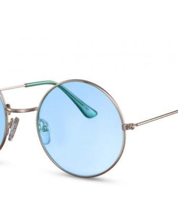 *** CWI Sonnenbrille Damen rund Kat.2 silber/blau (Cwi1587)