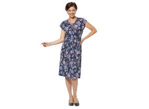 Classic Basics Jersey-Kleid in bequemer Schlupfform blau Damen Sommerkleider Kleider