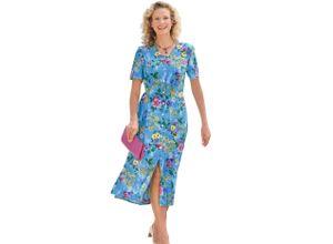 Classic Basics Kleid mit Seitenschlitzen blau Damen Sommerkleider Kleider