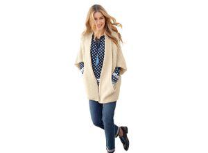 Classic Inspirationen Strickjacke im coolen Cape-Style braun Damen Ponchos Capes Pullover Strickjacken