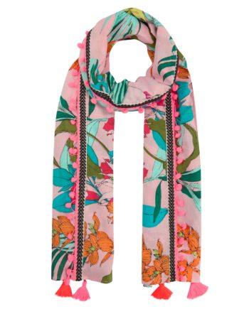 Codello Exotik-Print Pareo aus Baumwolle mit Trend-Tassels