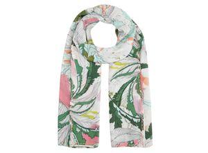Codello Pareo aus Baumwolle mit Blätter-Print grün Damen Halstücher Schals, Loops Tücher Accessoires