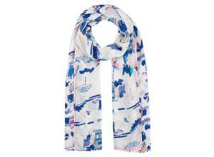 Codello Pareo mit Fancy-Print und Trend-Tassels aus Modal blau Damen Accessoires Schmuck