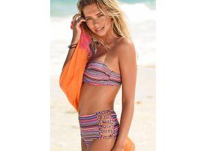 Homeboy Highwaist-Bikini-Hose Kuba rosa Damen Bikini Hosen Bikinis Damenbademode Badehosen