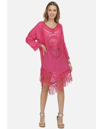 IZIA Tunikakleid Sommerkleider pink Damen Gr. 32/34